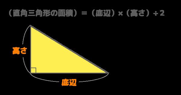 直角三角形の面積の公式