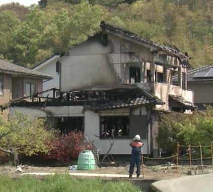 福山市沼隈町 住宅火災