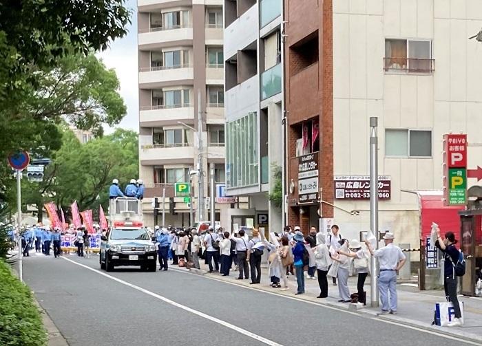 2020年8月6日 平和記念式典デモ 対 広島市民