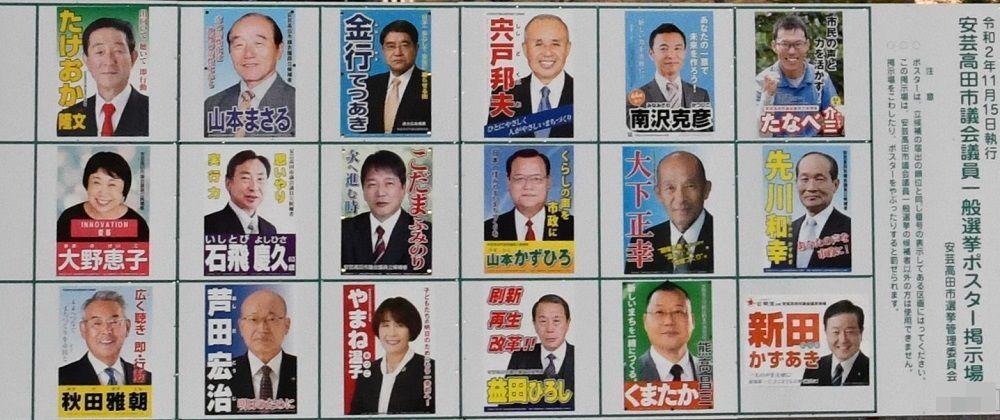 2020年11月安芸高田市議選挙