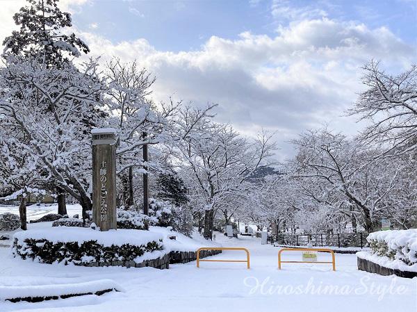 安芸高田市土師 のどごえ公園 雪