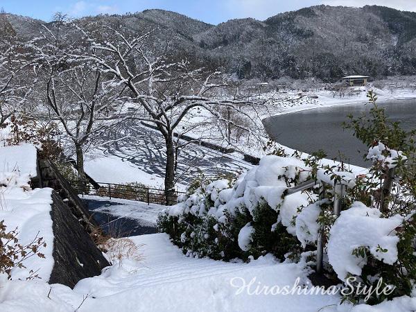 安芸高田市 のどごえ公園 雪