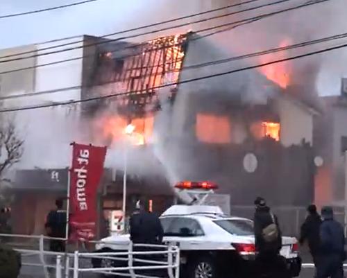 福山市蔵王街 店舗火災