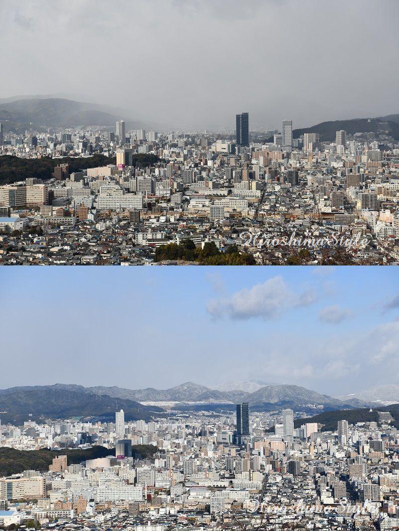 広島市北部 積雪01
