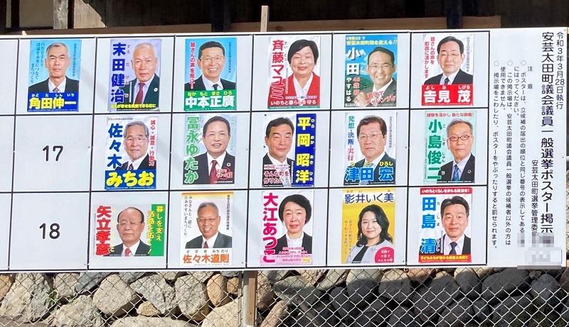 令和3年 安芸太田町議選挙