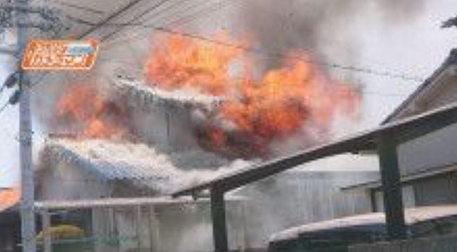 広島市中区江波本町 火事