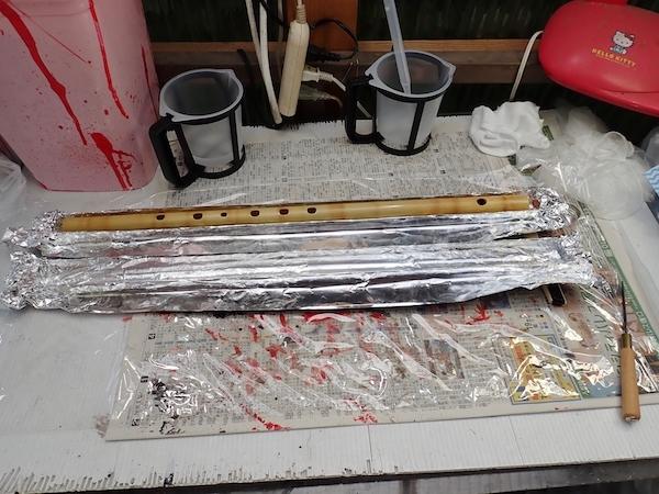 長大なF管をポリマー樹脂加工