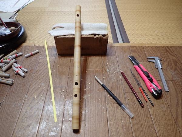 久しぶりの笛製作