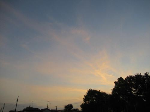 夜明けの雲