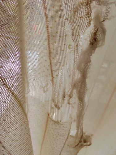 破いたカーテン