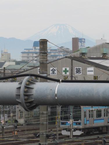富士山がうっすら見えた