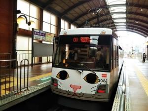 招き猫 電車 乗車記念