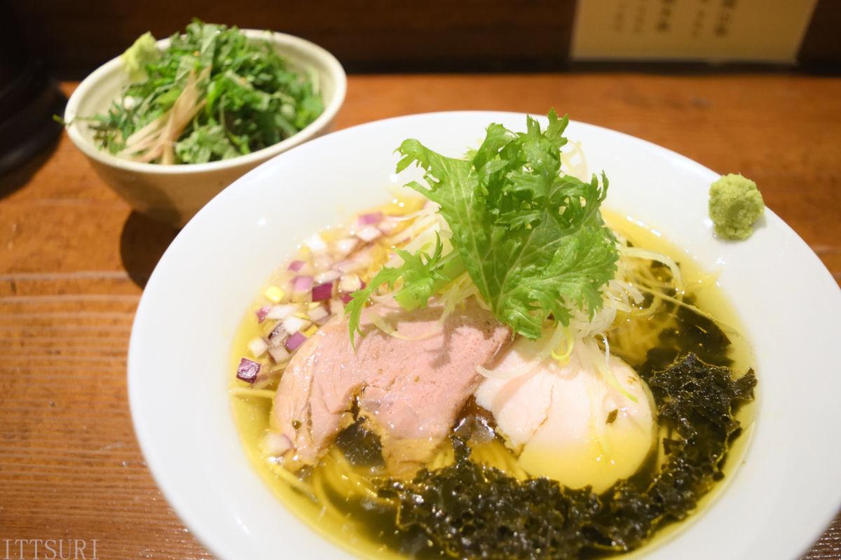 210409麺酒一照庵_かじめと山葵の鶏塩そば&Japaneseハーブめし