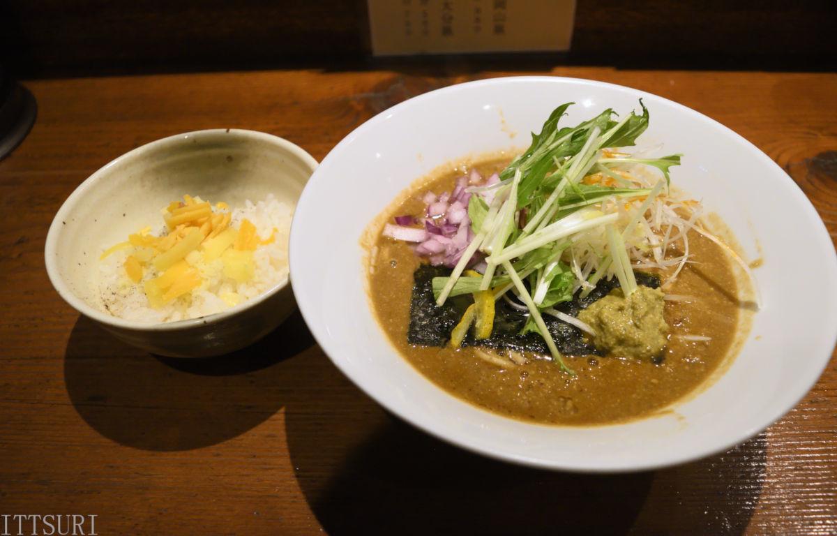 210409麺酒一照庵_牡蠣と味噌のこってり&ミニチーズリゾット