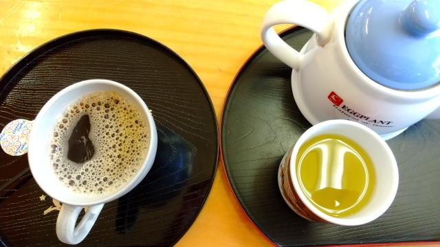 最初のお茶としめのコーヒー0411