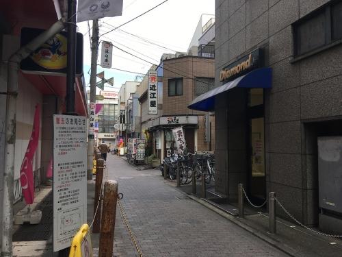 現在はMEGAドン・キホーテ 武蔵小金井駅前店横の道だけは変わらず!!