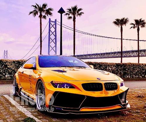 BMW E63 ヘッドライト加工 イカリング1