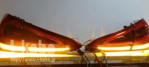 AMG A35テールランプ シーケンシャルウインカー