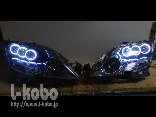 レクサスLS600hのヘッドライト