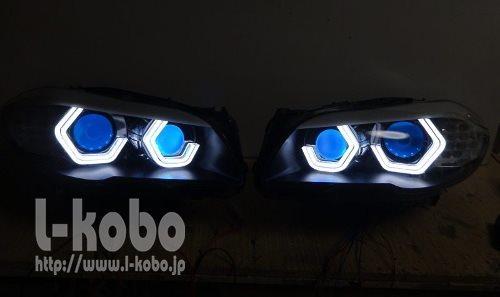 BMW F10のヘッドライト加工1