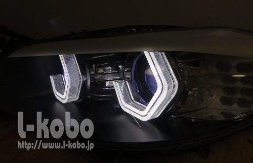BMW F10のヘッドライト加工2