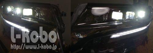 30アルファードヘッドライト移植2