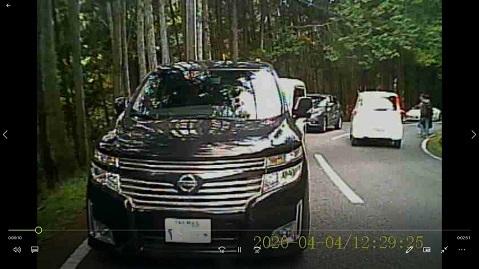4 ドライブレコーダー画面 壷阪寺渋滞  後ろ