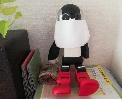 4 ロビ君がアベノマスクをかけたら