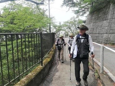 5 六甲高山植物園へ向けて歩く
