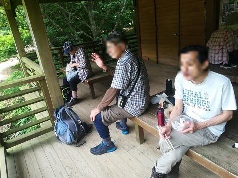 14 六甲高山植物園・東屋で昼食