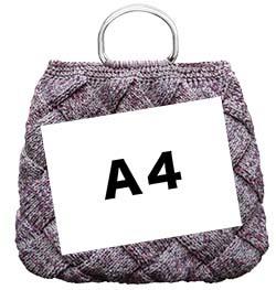 白樺バッグにA4のせ