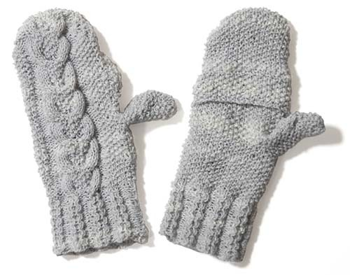 ドナウのミトン編み上がり