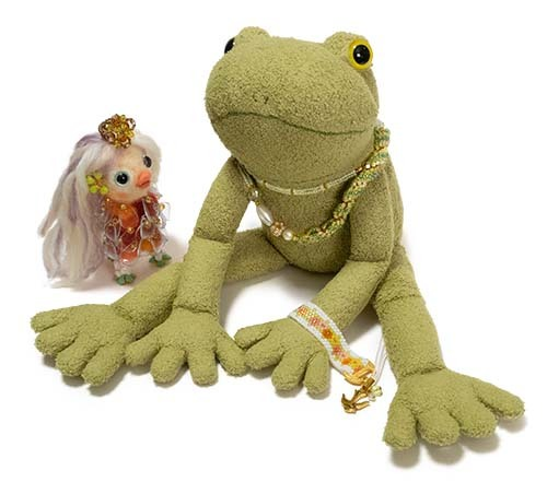 ボヘミアンリングとギャルと蛙