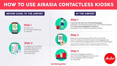 エアアジアは、搭乗手続きの非接触化を発表!