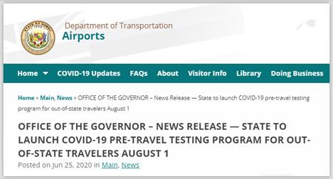 ハワイ旅行が可能に!ハワイ州は到着後14日間の自己隔離免除を発表!