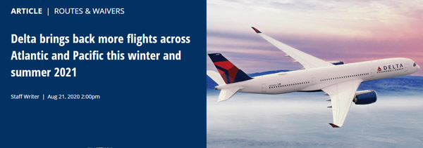 デルタ航空は、冬ダイヤから、羽田~ホノルル線を再開すると発表!