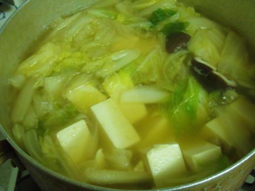 223  白菜の葉投入(1)
