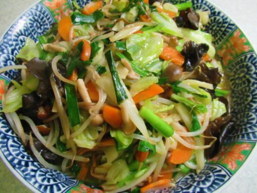 223  野菜炒め完成(1)