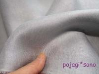 ねずみ色 模様入りオクサ シルク 絹