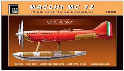 SBSモデル 172 アエロナウティカ・マッキ(Aermacchi)アエルマッキ M.C.72 (Macchi M.C.72)レース専用水上機シュナイダー・トロフィー・レース (The Schneider Trophy)エアレース(Air Race)カーチスR3C-2戦乙女ネームドワルキューレ渡来園香CV菊池紗矢香館山基地へようこそRtBストライクウィッチーズROAD to BERLIN2020秋