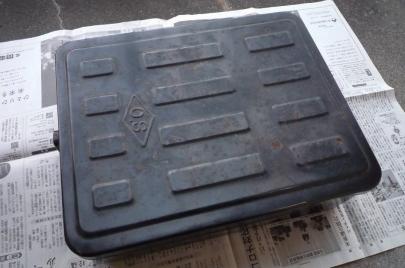 岡本製作所リアボックス鉄箱 ビジネスバイクリアボックス スーパーカブホンダ純正ラゲッジボックスmixiすなぎもミク友アンティーク当時物レトロ