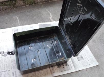 岡本製作所トップケース鉄箱ビジネスバイクリアボックス スーパーカブホンダ純正ラゲッジボックスmixiすなぎもミク友アンティーク当時物レトロ