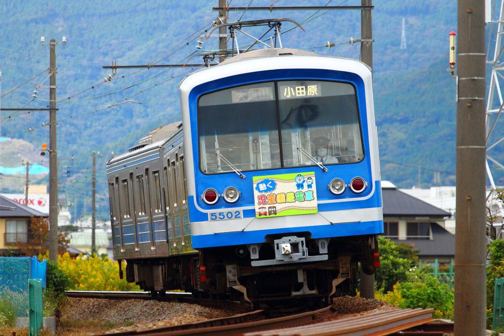 201018_大雄山線_絵画展電車下り