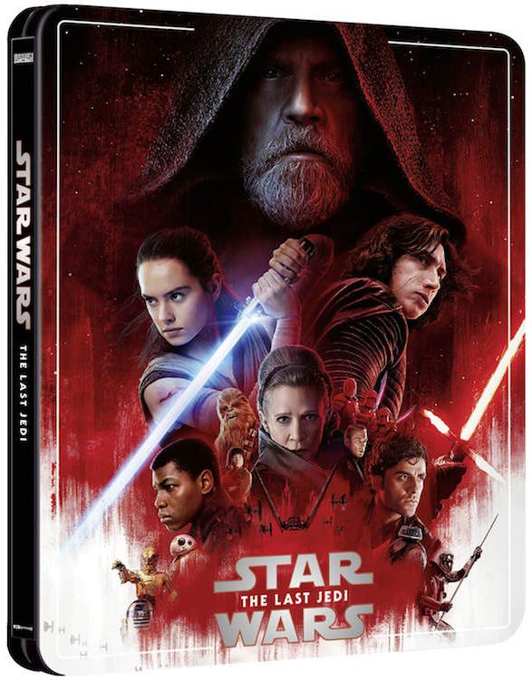 スター・ウォーズ/最後のジェダイ スチールブック Star Wars: The Last Jedi Zavvi steelbook
