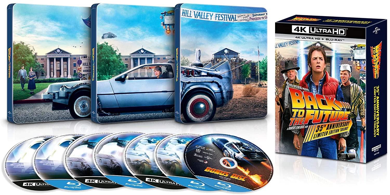 バック・トゥ・ザ・フューチャー トリロジー 35th アニバーサリー・エディション 4K Ultra HD + ブルーレイ スチールブック仕様  steelbook