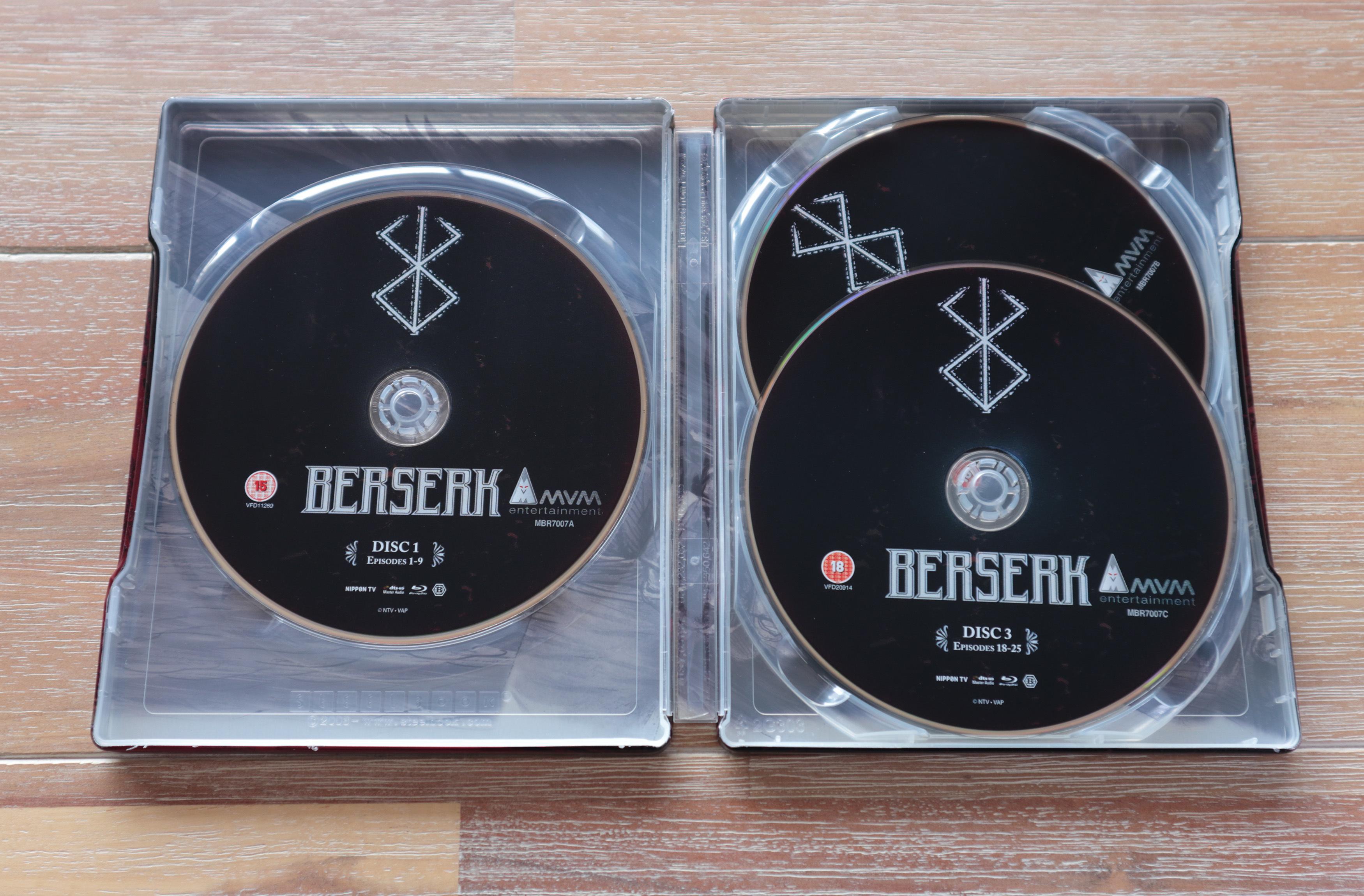 Berserk steelbook 剣風伝奇ベルセルク UK イギリス スチールブック