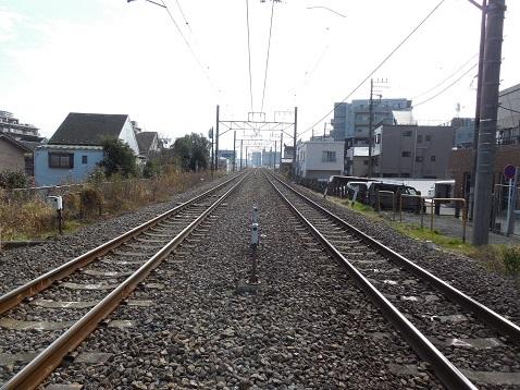 横浜線の入江踏切@横浜市神奈川区c