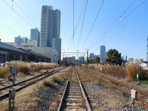 高島線の千鳥橋踏切@横浜市神奈川区h