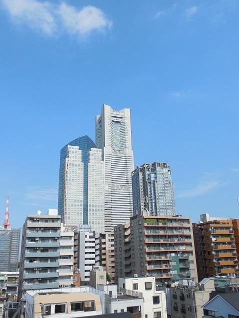 掃部山公園から見たランドマークタワー@横浜市西区