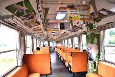 車内には可愛い秋田犬がいっぱい 秋田犬っこ列車